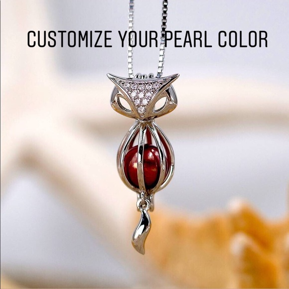 Jewelry - Sterling Silver Fox cage pendant